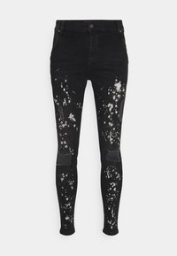 SIKSILK - PAINT SPLATTER RIPPED KNEE  - Jeans Skinny Fit - washed grey - 3
