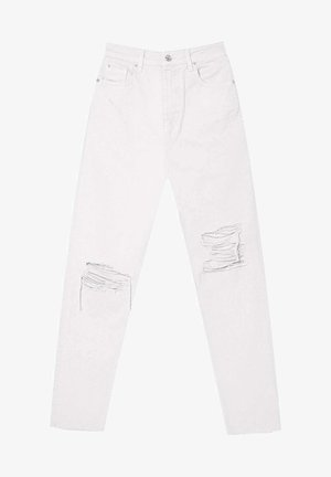 MOM FIT - Straight leg jeans - white