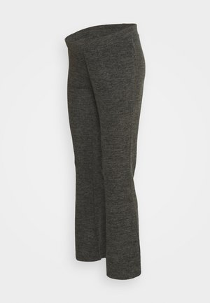 PCMPAM FLARED PANT - Trousers - dark grey melange
