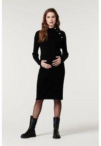 Supermom - DRESS BUTTON - Sukienka dzianinowa - black - 4