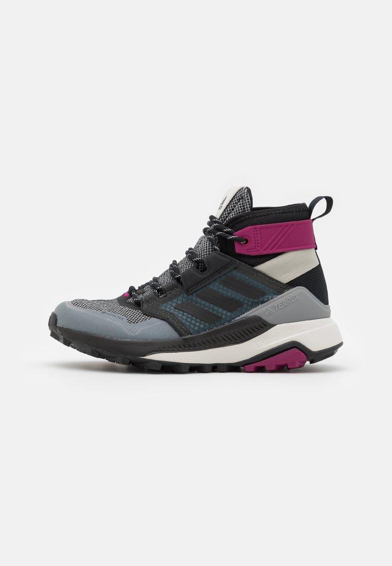 adidas Performance - TERREX TRAILMAKER MID GORE-TEX - Hiking shoes - metal grey/core black/power berry