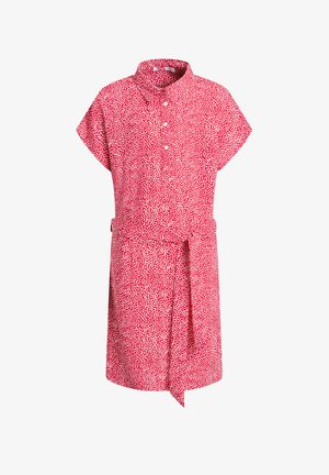 MET STREEPDESSIN - Shirt dress - red