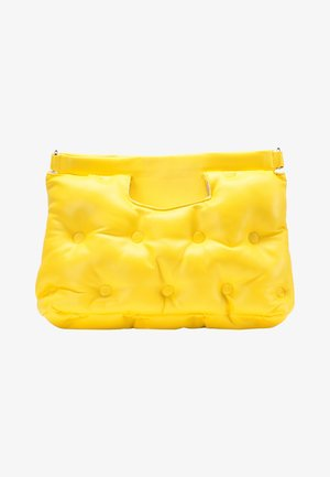 QUILTED BAG - Bolso de mano - yellow
