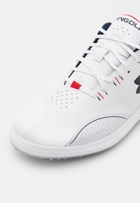 Under Armour - DRAW SPORT - Golf shoes - white - 5