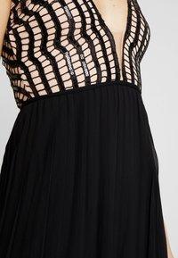 Rare London - SEQUIN PLUNGE DOUBLE SPLIT DRESS - Occasion wear - black - 5