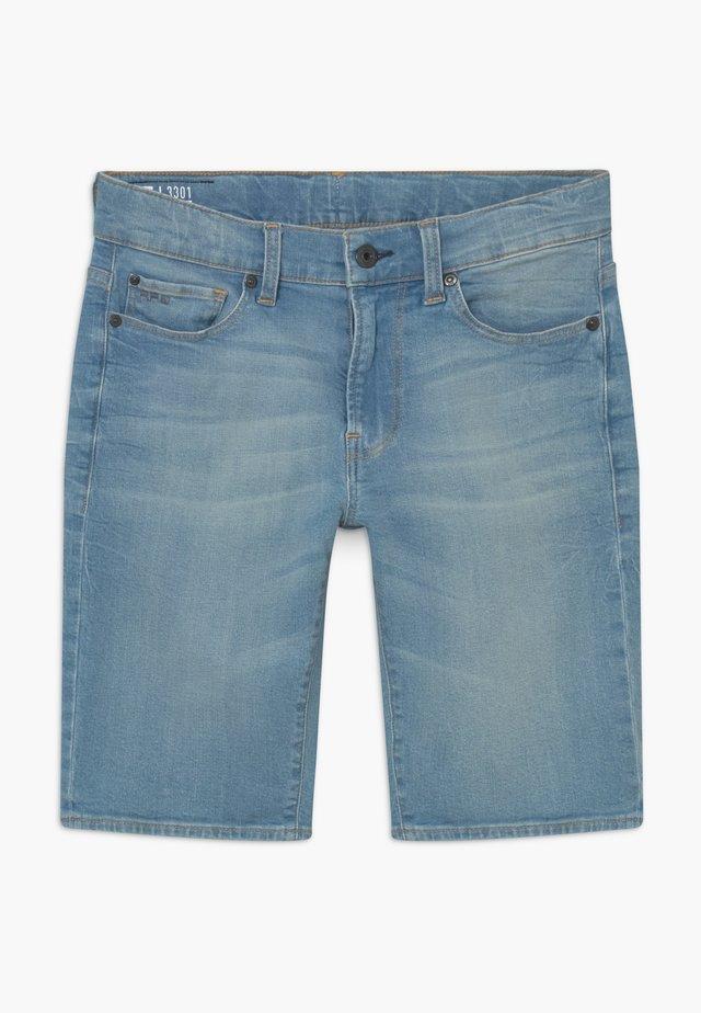 3301 BERMUDA - Denim shorts - light blue