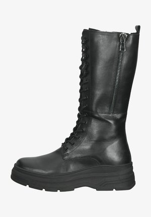 Platform boots - black antic