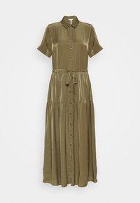 OBJNIBIA SHIRT DRESS  - Vestido largo - burnt olive