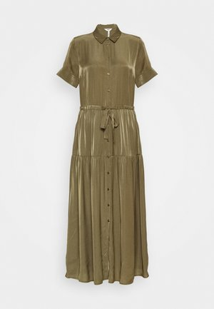 OBJNIBIA SHIRT DRESS  - Maxi šaty - burnt olive