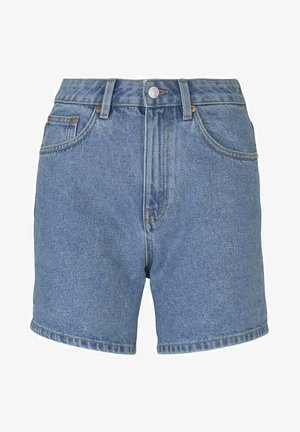 Denim shorts - clean mid stone blue denim