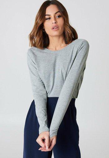 DEEP BACK - Long sleeved top - grey melange