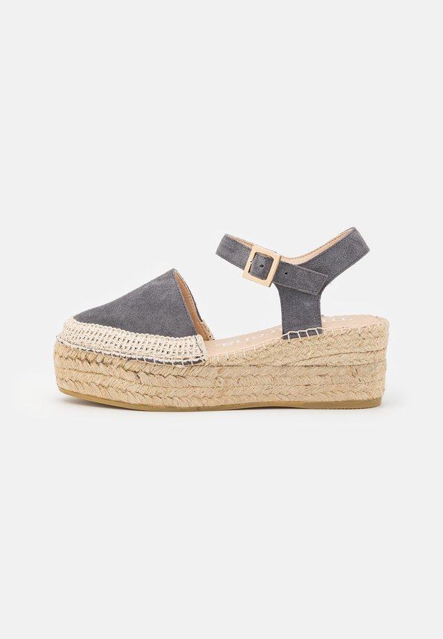 JAVA  - Sandály na platformě - marengo