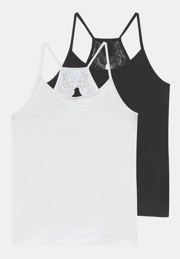 2 PACK - Undershirt - white/black