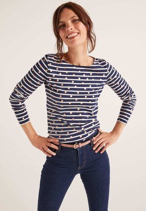 BRETON - Long sleeved top - kupferfolie, verstreute tupfen