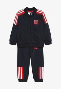 adidas Performance - SHINY TRACKSUIT BABY SET - Tuta - legend ink/vivid red/white - 4