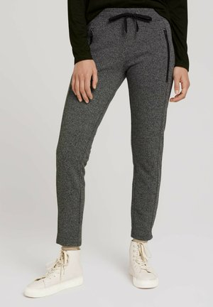 Tracksuit bottoms - black white structure