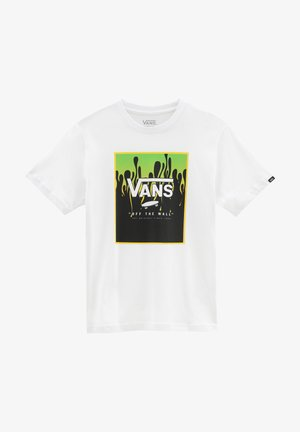 BY PRINT BOX BOYS - Print T-shirt - white/slime