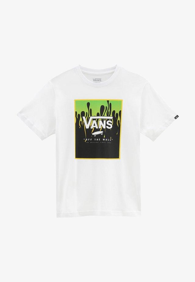 BY PRINT BOX BOYS - Print T-shirt - white/slime