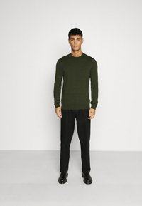 Topman - CREW 2 PACK - Trui - grey/green - 1