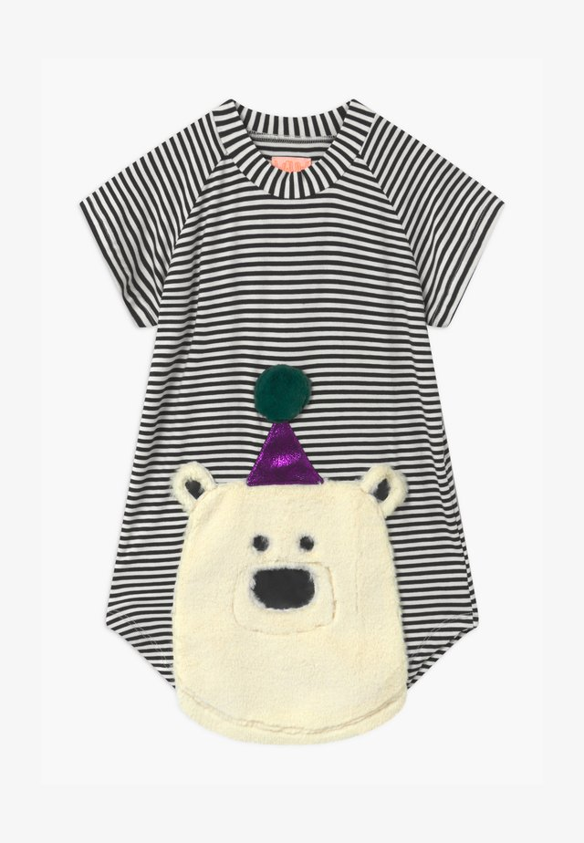 NOVA BEAR - Robe en jersey - black/white