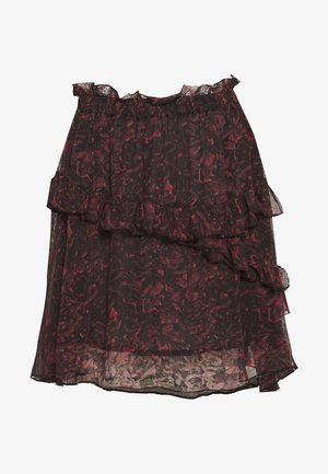 SKIRTS - Mini skirt - red/black