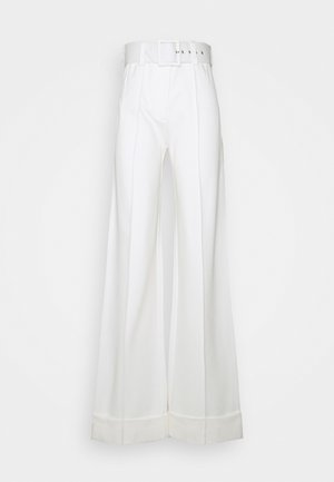 BELTED PONTI TROUSER - Trousers - ivory