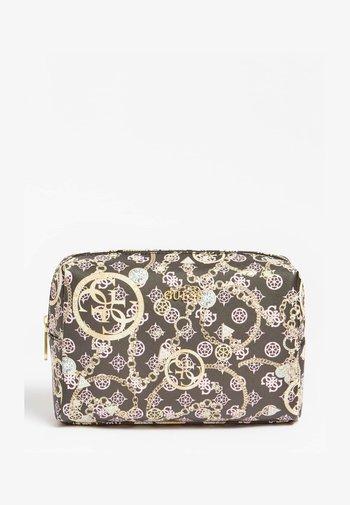 MILENE - Wash bag - gold/green