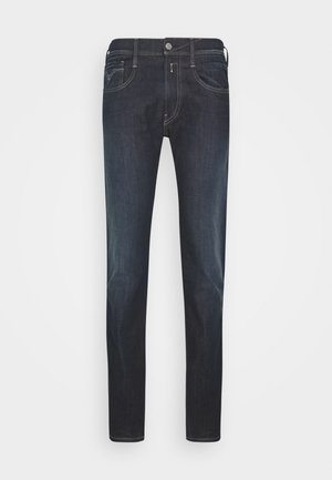 ANBASS HYPERFLEX RE-USED - Slim fit -farkut - dark-blue denim