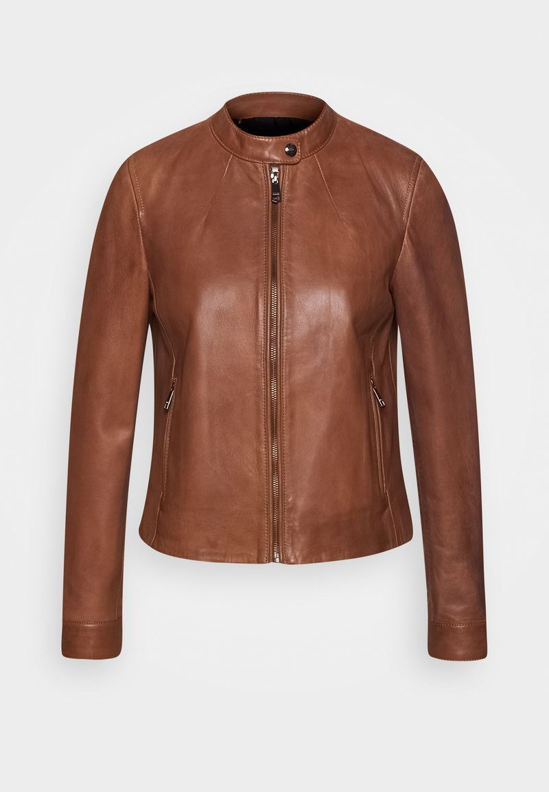 Tommy Hilfiger - DAISY JACKET - Leather jacket - cognac