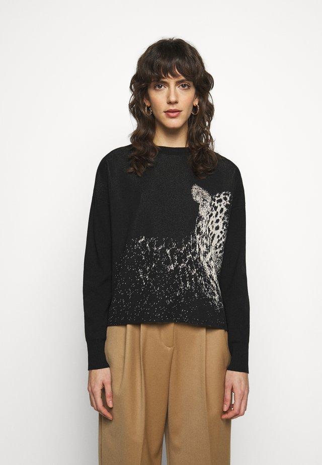 IXIE - Stickad tröja - nero pantera