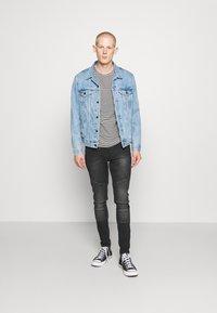 11 DEGREES - BIKER - Jeans Skinny Fit - washed black - 1