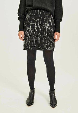 RAVENNA SPECKLED - Mini skirt - anthrazit (14)