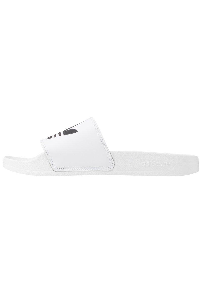 adidas Originals - ADILETTE LITE - Matalakantaiset pistokkaat - white
