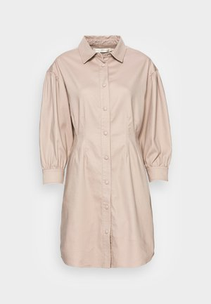 TICK DRESS - Abito a camicia - simply taupe