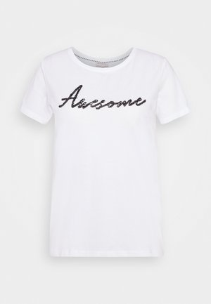 CARNECKKISS LIFE TEE - Camiseta estampada - bright white