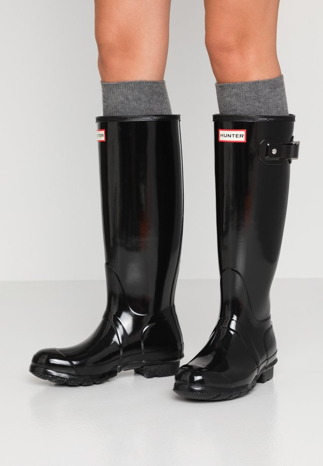 ORIGINAL TALL GLOSS VEGAN - Wellies - Gummistøvler - black