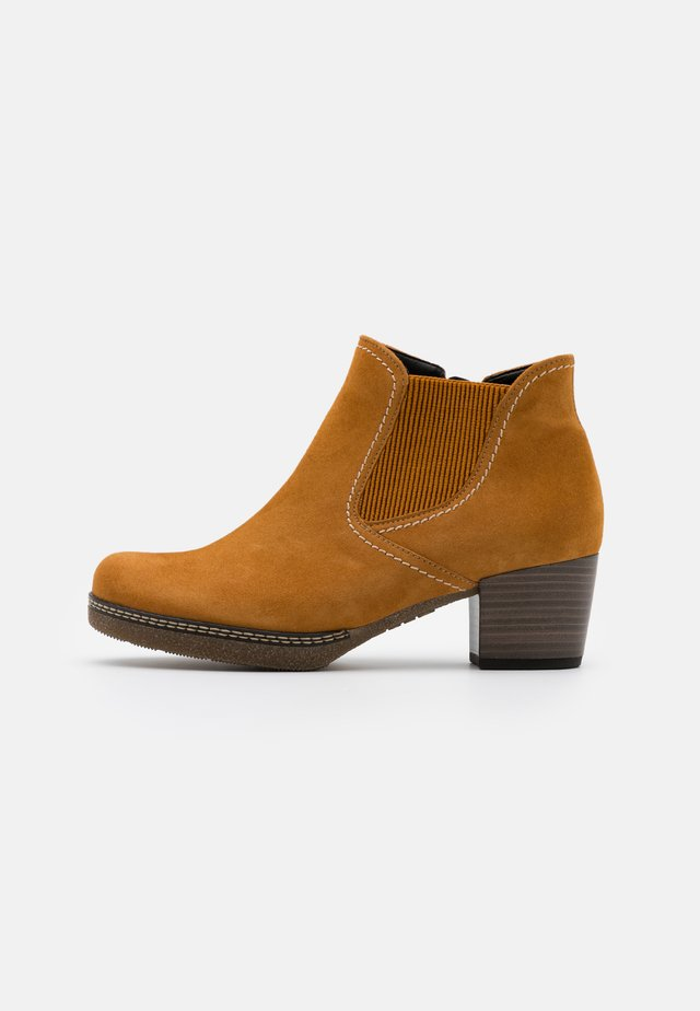 Ankle boots - curry