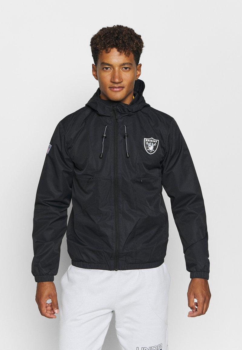 Fanatics - NFL OAKLAND RAIDERS ICONIC BACK TO BASICS MIDWEIGHT JACKET - Club wear - black