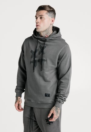 STEVE AOKI OVERHEAD HOODIE - Jersey con capucha - washed grey