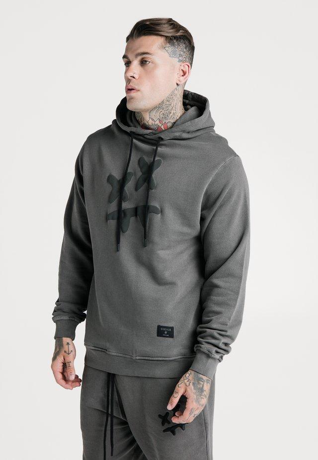 STEVE AOKI OVERHEAD HOODIE - Hoodie - washed grey
