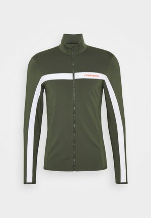 SEASONAL JARVIS - Fleece jacket - thyme green melange