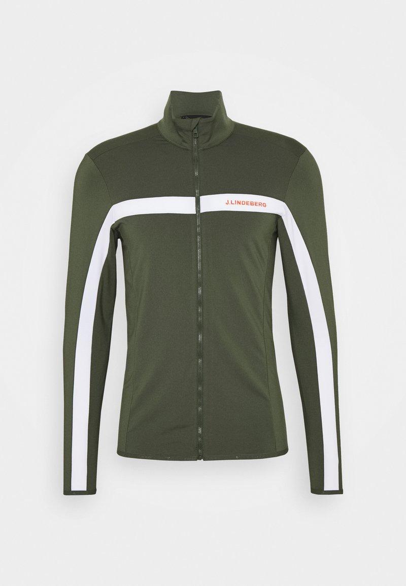 J.LINDEBERG - SEASONAL JARVIS - Fleece jacket - thyme green melange
