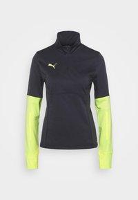 Puma - INDIVIDUAL 1/4 ZIP - Sweatshirt - black/asphaltsoft fluo yellow - 0