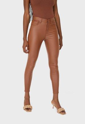 MIT HOHEM BUND - Stoffhose - light brown
