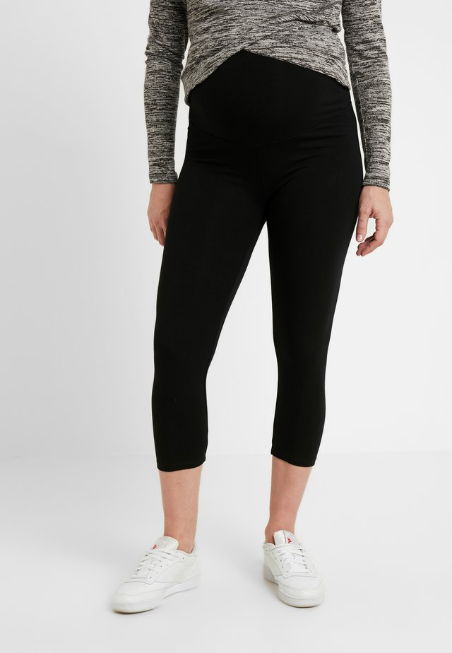 ESSENTIAL CROP - Leggingsit - true black