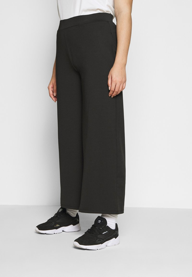 Simply Be - SCUBA TROUSERS - Trousers - black