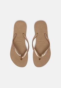 Havaianas - SLIM CRYSTAL SWAROVSKI - Pool shoes - rose gold - 0