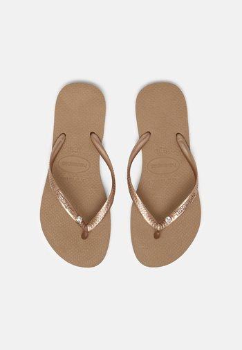 SLIM CRYSTAL SWAROVSKI - Pool shoes - rose gold