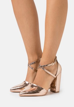 WIDE FIT KATY - High heels - rose gold