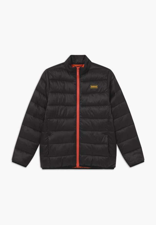 B.INTL BOYS QUILT - Winter jacket - black/orange